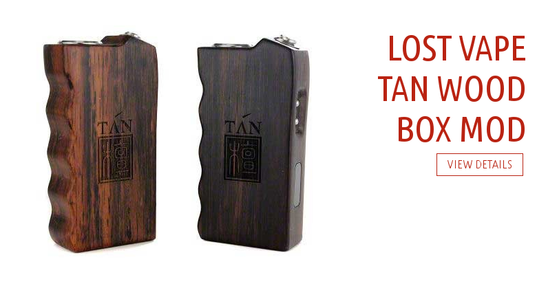 Lost Vape Tan Wood Box Mod V2 Authentic